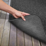 Skid-Resistant Heavy-Duty Door Mat Charcoal Black