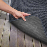 Skid-Resistant Heavy-Duty Door Mat Stormy Blue