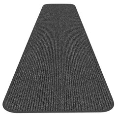 Skid-Resistant Heavy-Duty Carpet Runner Charcoal Black