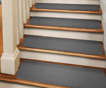 Adhesive Carpet Stair Treads Gray