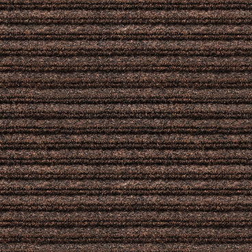 Indoor Outdoor Double-Ribbed Carpet Runner with Skid-Resistant Rubber Backing Bittersweet Brown