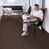 Indoor Outdoor Double-Ribbed Carpet with Skid-Resistant Rubber Backing Bittersweet Brown