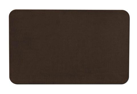 Skid-Resistant Area Rug Chocolate Brown