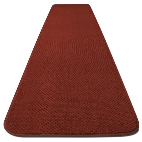 Skid-Resistant Carpet Runner Brick Red