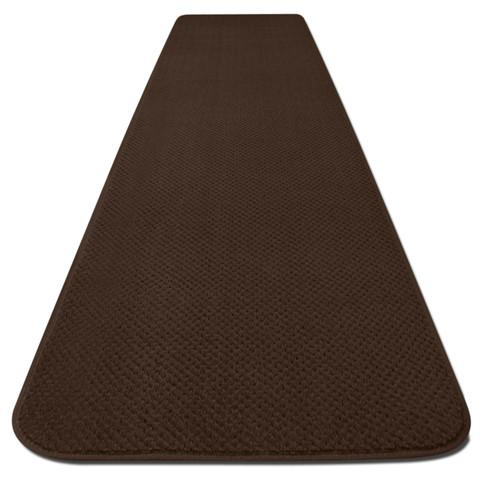 Skid-Resistant Carpet Runner Chocolate Brown