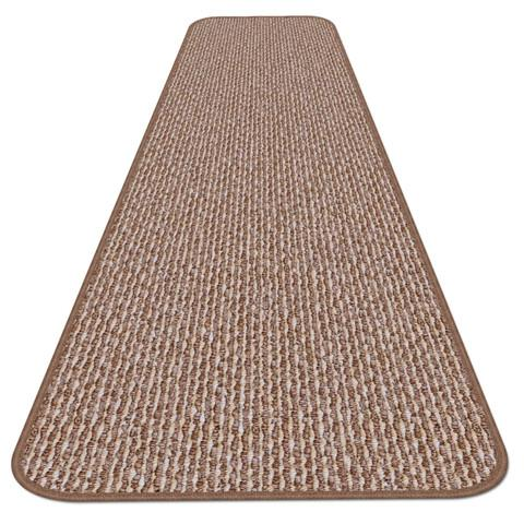 Skid-Resistant Carpet Runner Praline Brown