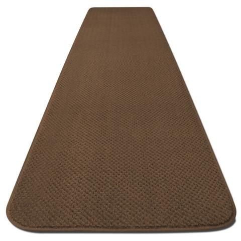 Skid-Resistant Carpet Runner Toffee Brown