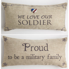 Proud soldier pillow