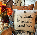 Evelyn Hope Thanksgiving Linen Pillow