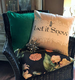 SALE! Enjoy the fall-let it snow pillow