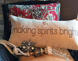 Evelyn Hope Spirit Tweed Pillow