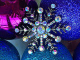 Crystal Snowflake Holiday Necklace-Brooch-Bouquet Pin
