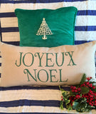 Evelyn Hope Joyeux Noel Outdoor Pillow