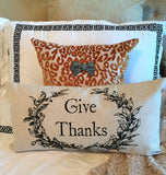 Halloween-Thanksgiving holiday pillow-1 left!