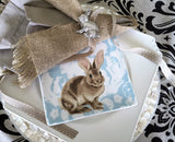 Silver Easter Bunny Rabbit Brooch-Pin