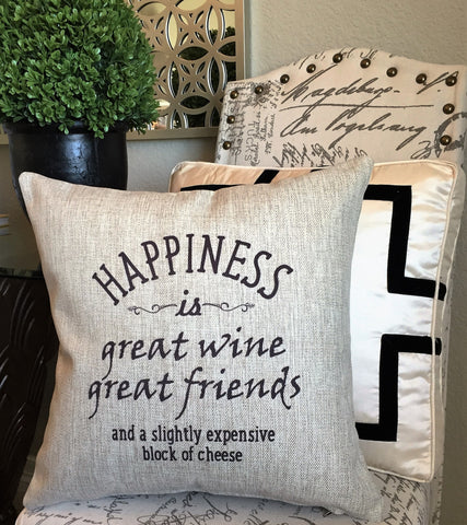 Funny Wine And Cheese Quote Gift Pillow Message Pillows