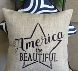 Evelyn Hope America Pillow