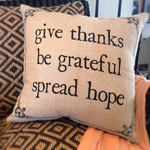 Sale! $29.50-Holiday-Fall-Give Thanks-Christmas sparkle pillow-limited edition
