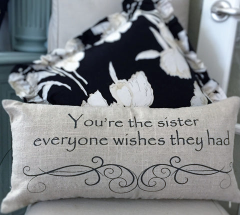 Evelyn Hope Collection best sister pillow