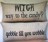 Evelyn Hope witch gobble pillow