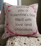 Valentine welcome doublesided indoor-outdoor linen pillow...only $19.50