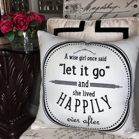 Babe Cave-Let it Go ivory pillow...A Pinterest Favorite!