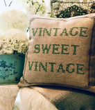 Sale...Vintage Sweet Vintage indoor-outdoor pillow with removable leaf pin
