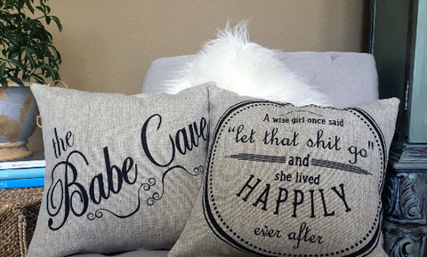 Babe Cave & Let that S#!% Go Sparkle Linen