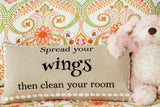 spread your wings childrens pillow