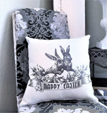 Happy Easter Pillow-Bunny Pin Set