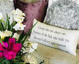 Gratitude-Courage Ivory Message Pillow-1 LEFT!