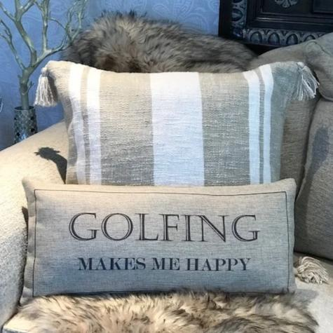 Golfing make me happy-indoor-outdoor pillow
