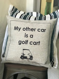 Golf cart indoor-outdoor pillow