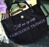 Last one! Fabulous things purple and black tote...shop with style and function