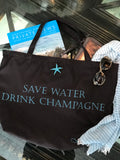 Save Water Drink Champagne Washable Tote