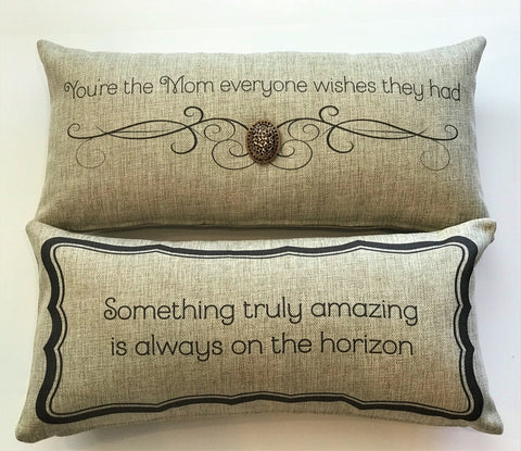 Mother's Day Gift-Great mom Pillow with removable Leopard Necklace-Pin
