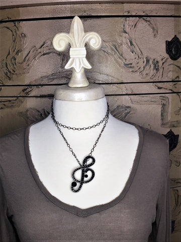 Musical Note necklace-brooch-bouquet pin