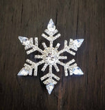 Crystal Snowflake Candle Pin...Brooch-Bouquet Pin