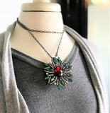 Holiday Vintage Wreath Necklace-Pin-Brooch-limited quantity.