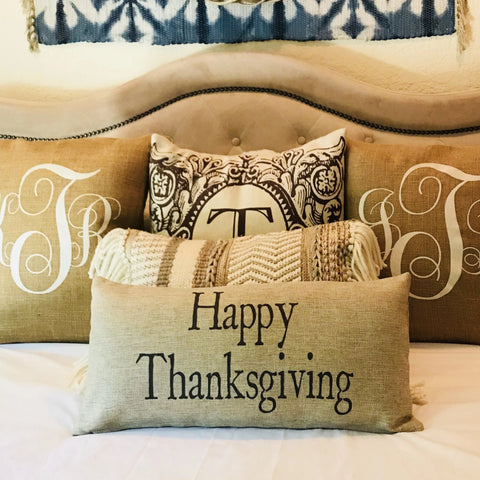 Happy Thanksgiving-Jingle my Bells Holiday Pillow