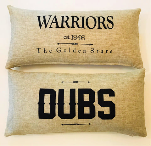 Warriors-Dubs Indoor-Outdoor Doublesided Pillow