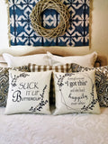 Suck it up Buttercup-I got this-ivory and grey pillow
