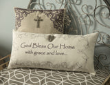 Godbless our home-angels spiritual gift pillow