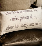 Evelyn Hope Father Linen Pillow
