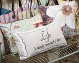 MAY SALE...you're always welcome here pillow with removable owl pin