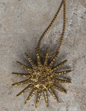 Evelyn Hope Gold Starburst Necklace/Pin