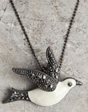 Evelyn Hope Bird Necklace/Pin