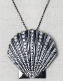 Evelyn Hope Shell-Silver Necklace/Pin