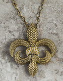 Evelyn Hope Gold Fleur Di Lis Necklace/Pin