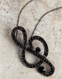 Evelyn Hope Collection Musical Note Necklace-Pin